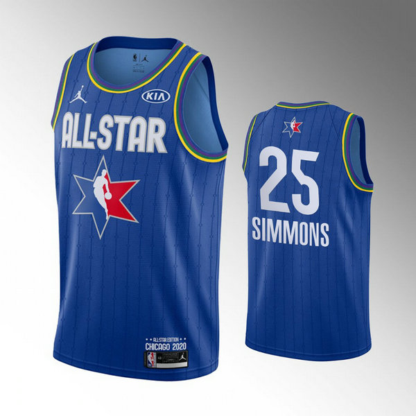 canotte All Star 2020 Uomo Ben Simmons 25 Blu
