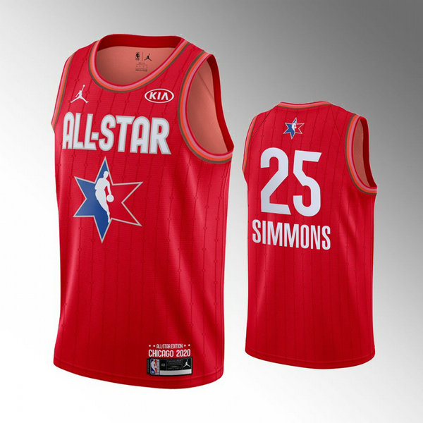 canotte All Star 2020 Uomo Ben Simmons 25 Rosso