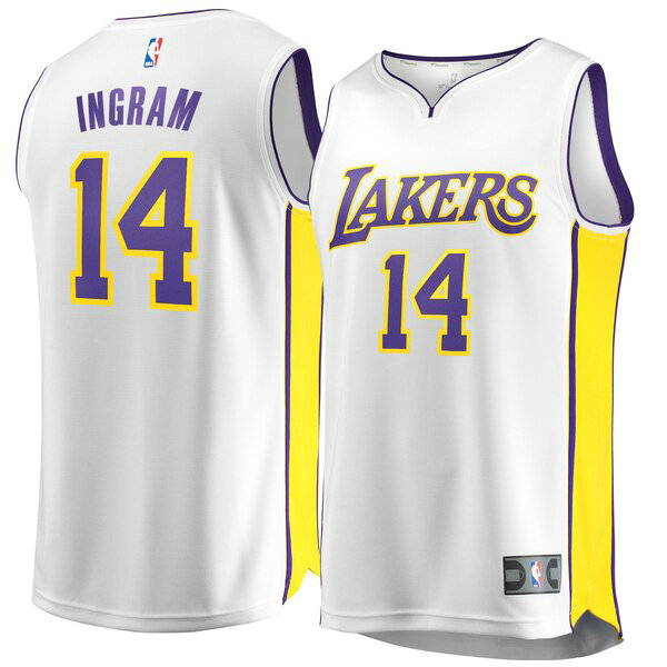 canotte Los Angeles Lakers Uomo Association Edition Brandon Ingram 14 Bianco