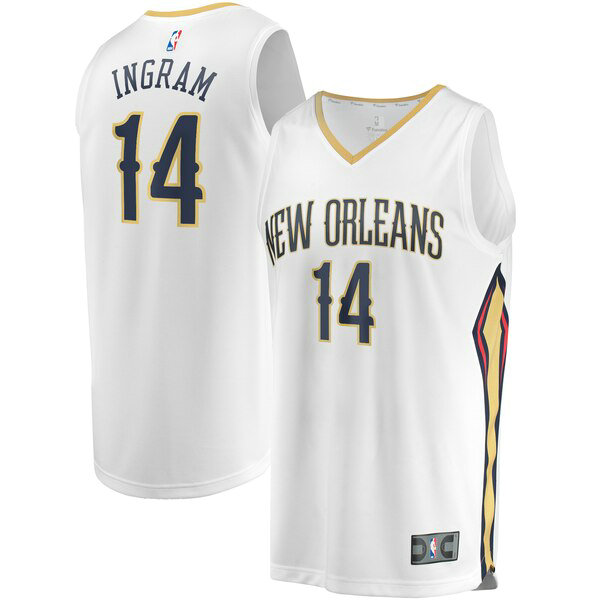 canotte New Orleans Pelicans Uomo Association Edition Brandon Ingram 14 Bianco