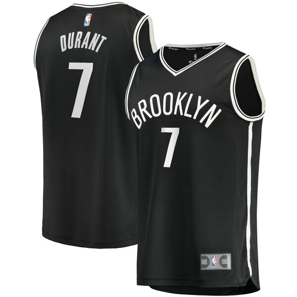 canotte Brooklyn Nets Uomo 2019 Kevin Durant 7 Nero