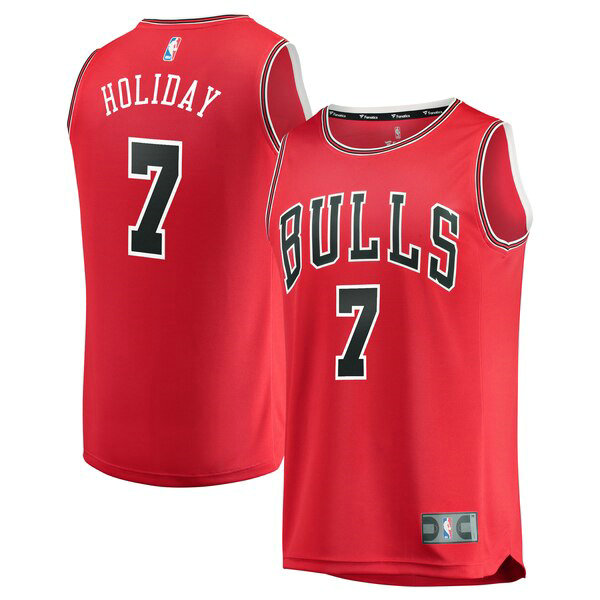 canotte Chicago Bulls Uomo 2019 Justin Holiday 7 Rosso