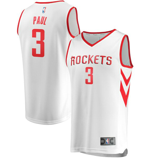 canotte Houston Rockets Uomo Association Edition Chris Paul 3 Bianco