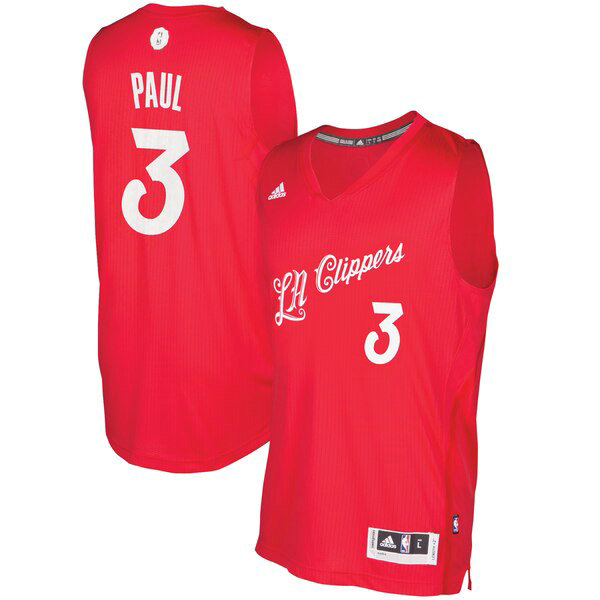 canotte Los Angeles Clippers Uomo 2016 adidas Chris Paul 3 Rosso