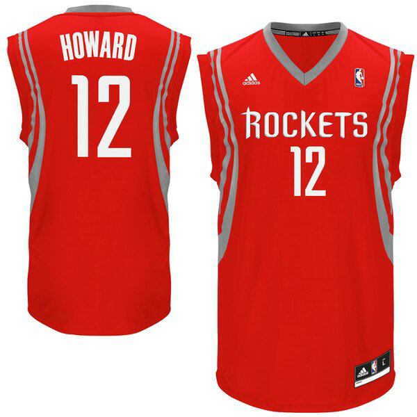 canotte Houston Rockets Uomo adidas Replica Dwight Howard 12 Rosso