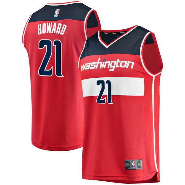 canotte Washington Wizards Uomo Icon Edition Dwight Howard 21 Rosso