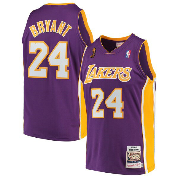 canotte Los Angeles Lakers Uomo 2008-2009 Kobe Bryant 24 Porpora