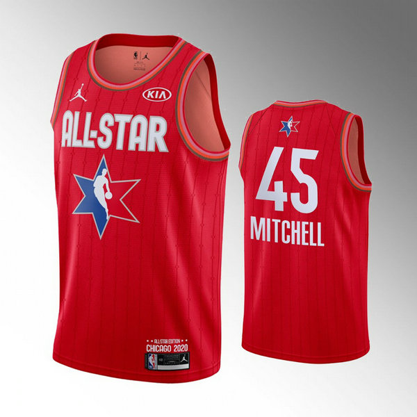canotte All Star 2020 Uomo Donovan Mitchell 45 Rosso