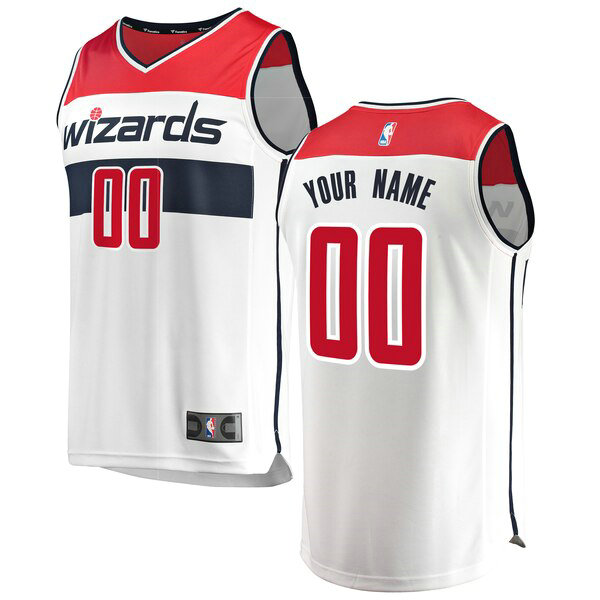 canotte Washington Wizards Uomo Association Edition Custom 0 Bianco