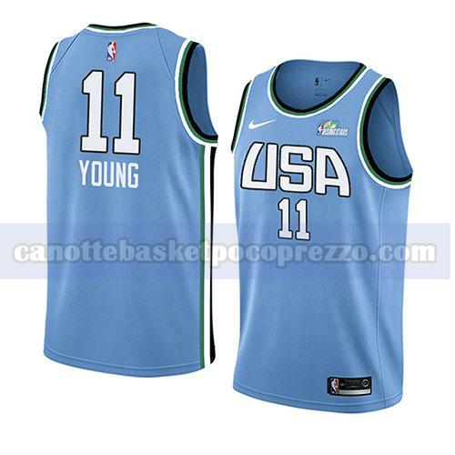 canotte 2019 rising star uomo world Trae Young 11 blu