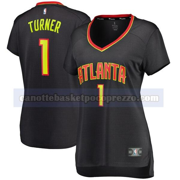 canotte Atlanta Hawks Donna icon edition Evan Turner 1 Nero