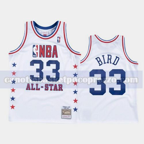 canotte Boston Celtics Uomo All Star 1988 Larry Bird 33 Bianco