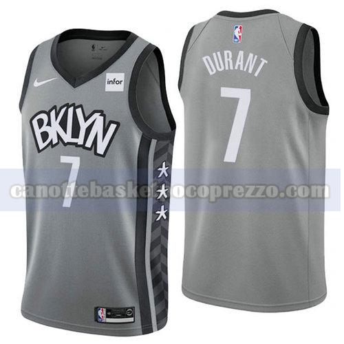 canotte Brooklyn Nets Uomo 2019-20 Kevin Durant 7 Grigio