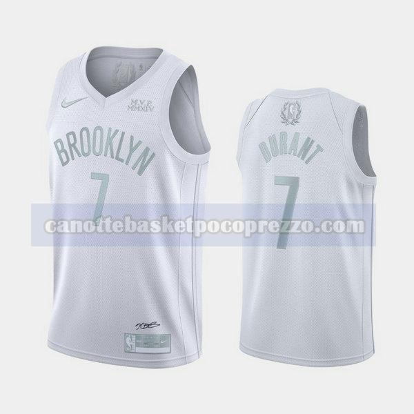canotte Brooklyn Nets Uomo MVP Kevin Durant 7 bianca