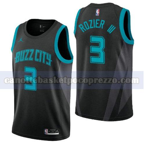 canotte Charlotte Hornets Uomo 2020 Terry Rozier 3 Nero