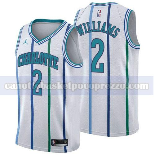 canotte Charlotte Hornets Uomo retro Marvin Williams 2 Bianca