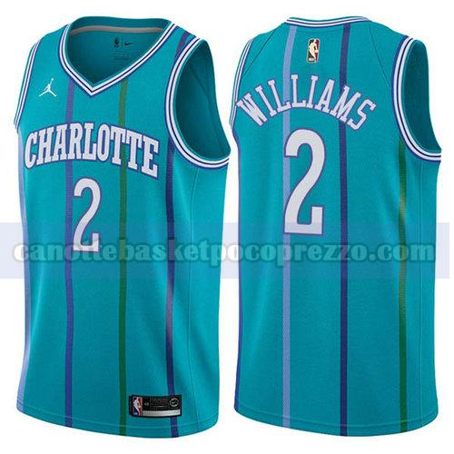 canotte Charlotte Hornets Uomo retro Marvin Williams 2 verde