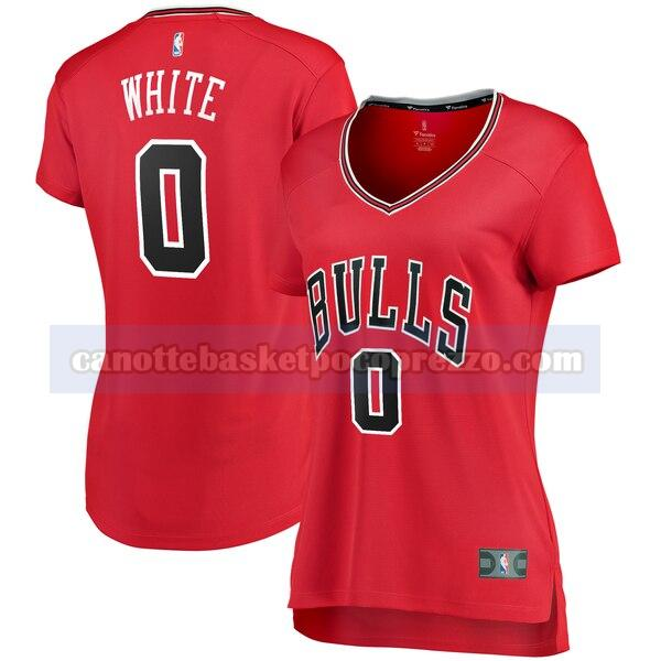 canotte Chicago Bulls Donna Classico Coby White 0 Bianco