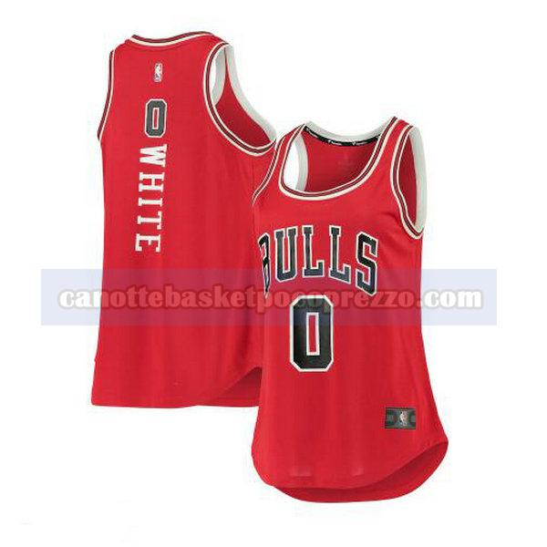 canotte Chicago Bulls Donna icon edition Coby White 0 Bianco