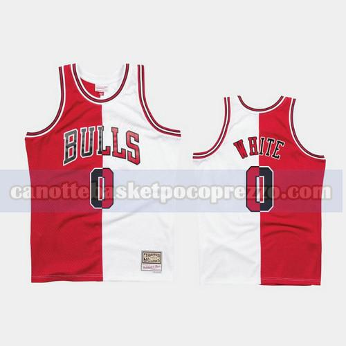 canotte Chicago Bulls Uomo 1997-98 Diviso Two-Tone Coby White 0 Rosso