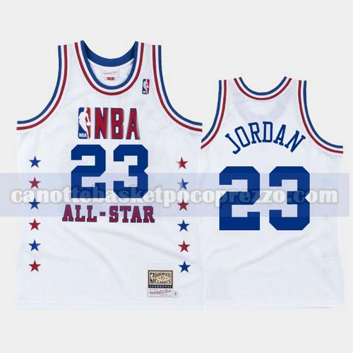 canotte Chicago Bulls Uomo All Star 1988 Michael Jordan 23 Bianco