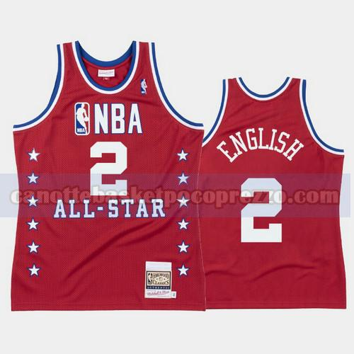 canotte Denver Nuggets Uomo All Star 1988 Alex English 2 Rosso