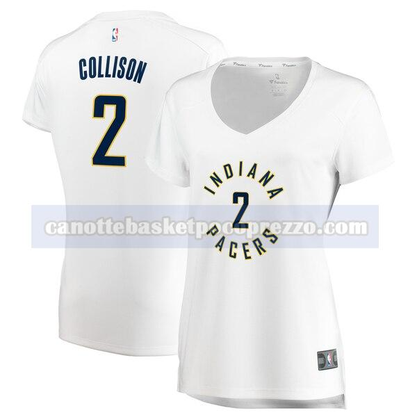 canotte Indiana Pacers Donna association edition Darren Collison 2 Bianco