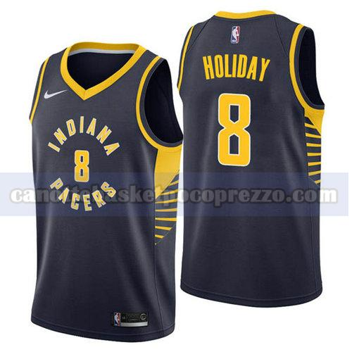 canotte Indiana Pacers Uomo 2018-19 Justin Holiday 8 Blu