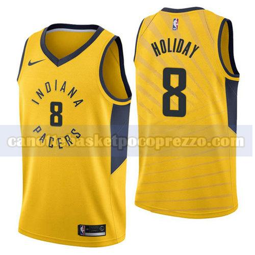 canotte Indiana Pacers Uomo 2018-19 Justin Holiday 8 Giallo