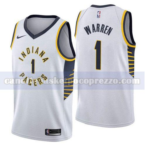 canotte Indiana Pacers Uomo 2018-2019 T.J. Warren 1 Bianca
