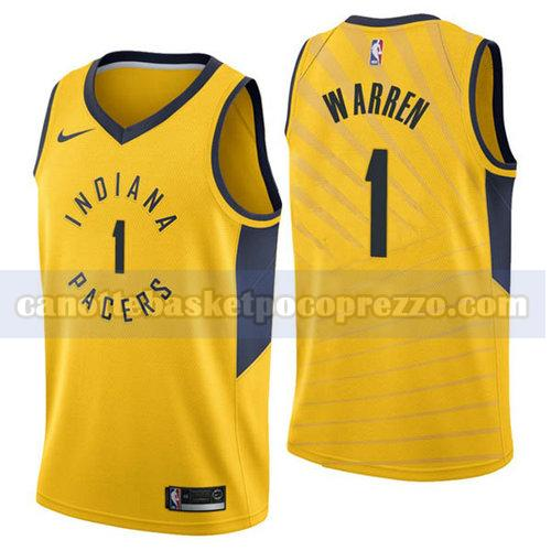 canotte Indiana Pacers Uomo 2018-2019 T.J. Warren 1 Giallo