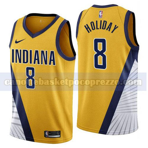 canotte Indiana Pacers Uomo 2019-2020 Justin Holiday 8 Giallo