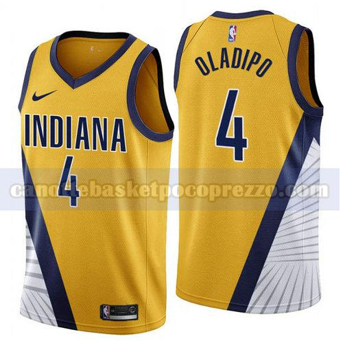canotte Indiana Pacers Uomo 2019-2020 Victor Oladipo 4 Giallo