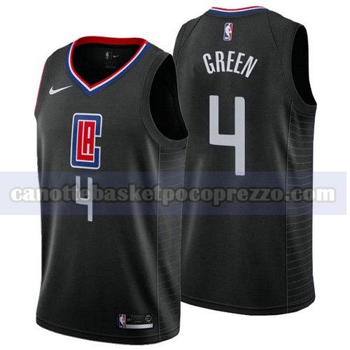 canotte Los Angeles Clippers Uomo 2018-19 JaMychal Green 4 Nero