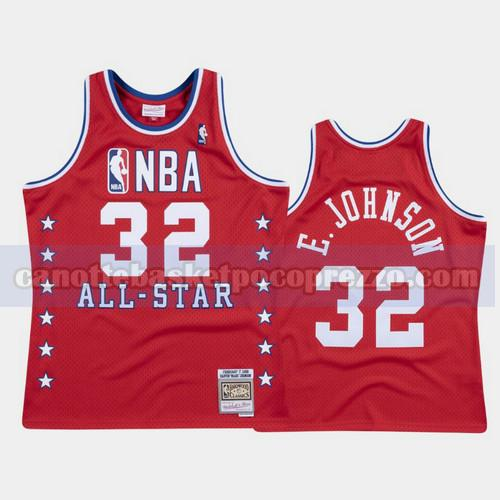 canotte Los Angeles Lakers Uomo All Star 1988 Magic Johnson 32 Rosso
