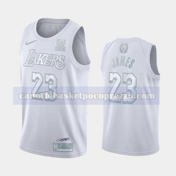 canotte Los Angeles Lakers Uomo MVP Lebron James 23 bianca