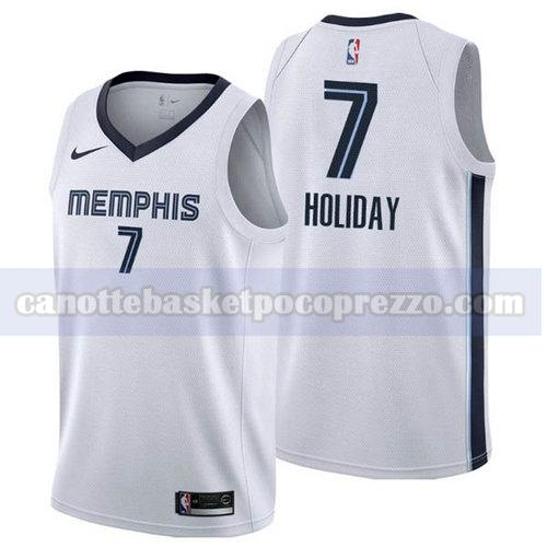 canotte Memphis Grizzlies Uomo 2018-2019 Justin Holiday 7 Bianca