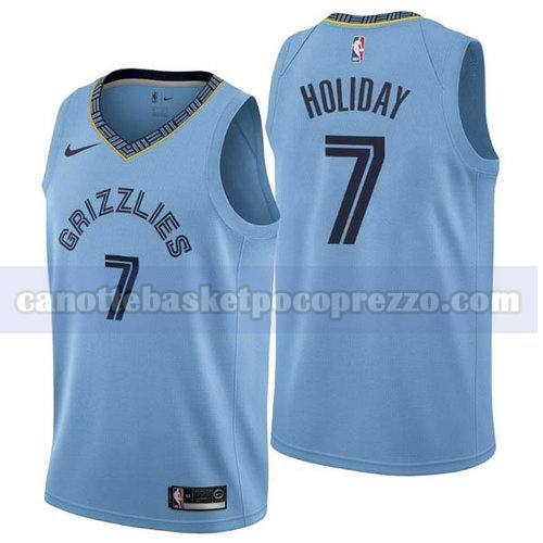 canotte Memphis Grizzlies Uomo 2018-2019 Justin Holiday 7 Blu