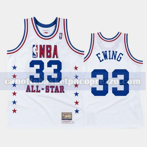 canotte New York Knicks Uomo All Star 1988 Patrick Ewing 33 Bianco