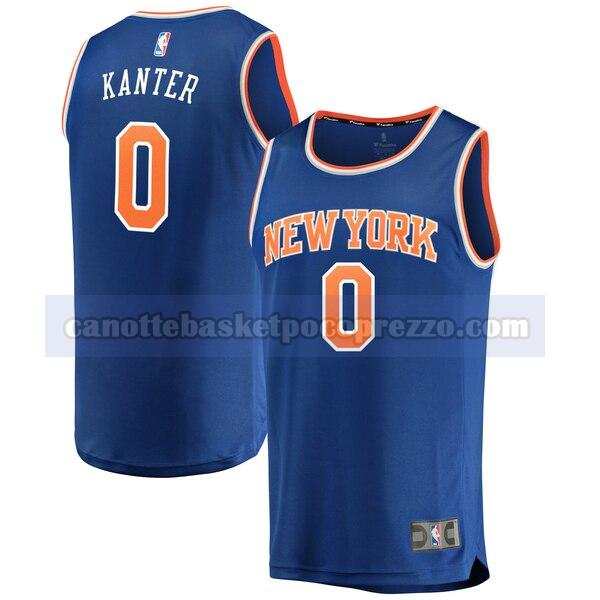 canotte New York Knicks Uomo icon edition Enes Kanter 0 Blu