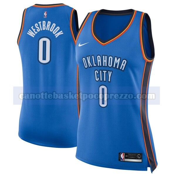 canotte Oklahoma City Thunder Donna Nike icon edition Russell Westbrook 0 Blu