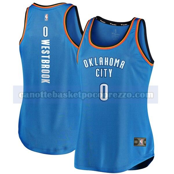canotte Oklahoma City Thunder Donna icon edition Russell Westbrook 0 Blu