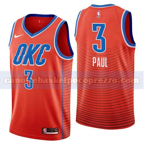 canotte Oklahoma City Thunder Uomo 2018-19 Chris Paul 3 Arancione