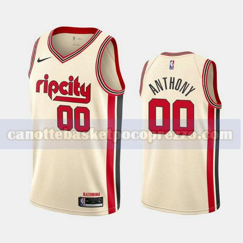 canotte Portland Trail Blazers Uomo 2019-20 City Rip Cream Carmelo Anthony 0 Bianco