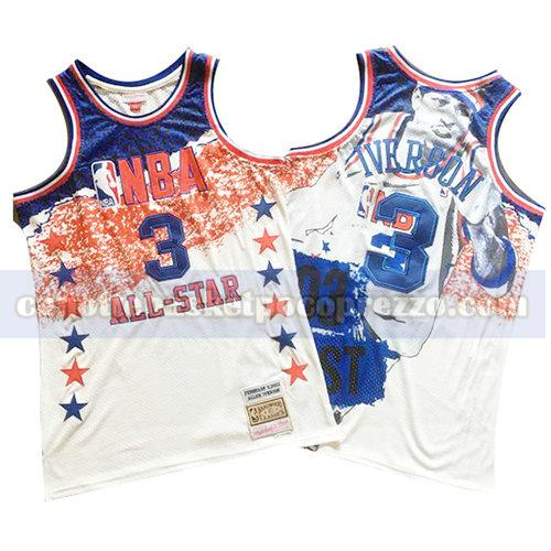 canotte all star 2003 uomo mitchell & ness Allen Iverson 3 bianco