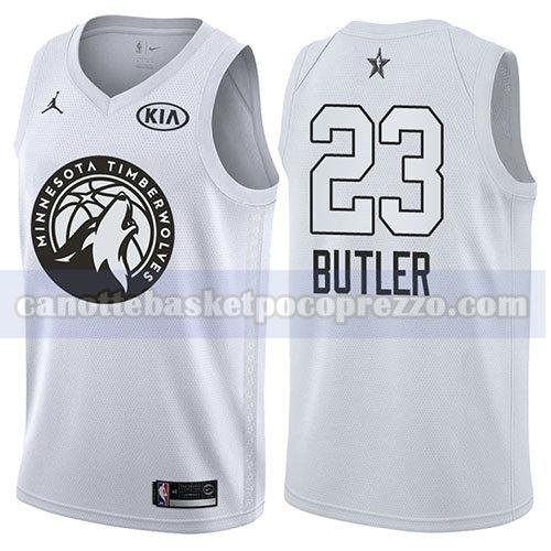 canotte all star 2018 uomo Jimmy Butler 23 bianco