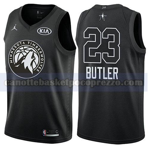 canotte all star 2018 uomo Jimmy Butler 23 nero