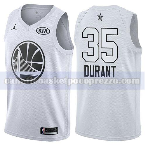 canotte all star 2018 uomo Kevin Durant 35 bianco