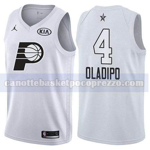 canotte all star 2018 uomo Victor Oladipo 4 bianco