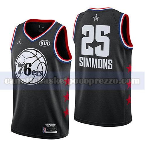 canotte all star 2019 uomo Ben Simmons 25 nero